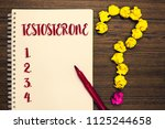 text sign showing testosterone. ... | Shutterstock . vector #1125244658