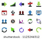 colored vector icon set   right ... | Shutterstock .eps vector #1125246512