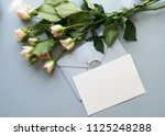 flat lay stylish mockup photo... | Shutterstock . vector #1125248288