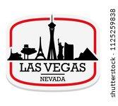 las vegas nevada  label stamp... | Shutterstock .eps vector #1125259838