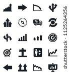 set of vector isolated black... | Shutterstock .eps vector #1125264356