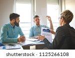 creative business team working... | Shutterstock . vector #1125266108