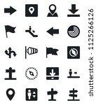 set of vector isolated black... | Shutterstock .eps vector #1125266126