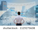 project manager working with... | Shutterstock . vector #1125273638