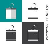 kitchen sink icons | Shutterstock .eps vector #1125281708