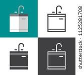 kitchen sink icons | Shutterstock .eps vector #1125281708