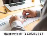 businessman are counting... | Shutterstock . vector #1125281915