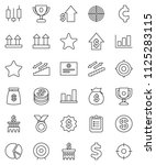 thin line vector icon set  ... | Shutterstock .eps vector #1125283115
