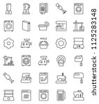 thin line vector icon set  ... | Shutterstock .eps vector #1125283148