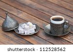 turkish coffee and turkish... | Shutterstock . vector #112528562
