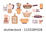 set of lettering written with... | Shutterstock .eps vector #1125289328