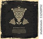 vintage lace ornament   Shutterstock .eps vector #112528952