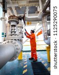 offshore oil and gas operations ... | Shutterstock . vector #1125290075