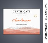 certificate template in vector...   Shutterstock .eps vector #1125292298