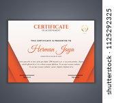 certificate template in vector...   Shutterstock .eps vector #1125292325