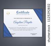 certificate template in vector... | Shutterstock .eps vector #1125292832