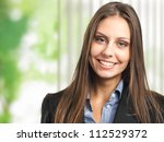 beautiful businesswoman...   Shutterstock . vector #112529372