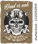 vintage poster design with... | Shutterstock .eps vector #1125293945
