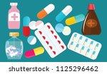 a set of medications   vials ... | Shutterstock . vector #1125296462