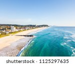 an aerial view of palm beach on ... | Shutterstock . vector #1125297635