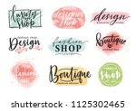collection of beautiful... | Shutterstock .eps vector #1125302465