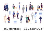 collection of humans and robots ... | Shutterstock .eps vector #1125304025