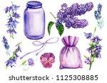 watercolor illustration ... | Shutterstock . vector #1125308885