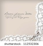 elegant lace background. vector ... | Shutterstock .eps vector #112532306