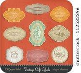 vintage label set | Shutterstock .eps vector #112532396