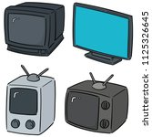 vector set of television | Shutterstock .eps vector #1125326645
