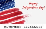 usa independence day background.... | Shutterstock . vector #1125332378