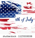 usa independence day background.... | Shutterstock . vector #1125333038