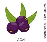 black acai berry flat icon... | Shutterstock .eps vector #1125338798