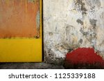 colorful metal door next to... | Shutterstock . vector #1125339188