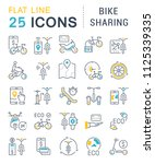 set of vector line icons  sign... | Shutterstock .eps vector #1125339335