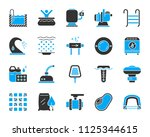 swimming pool equipment... | Shutterstock .eps vector #1125344615