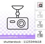 digital video recorder thin... | Shutterstock .eps vector #1125344618