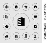 residential icon. collection of ... | Shutterstock .eps vector #1125346922