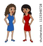 illustration of two attractive... | Shutterstock . vector #1125348728