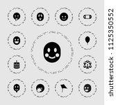 joy icon. collection of 13 joy... | Shutterstock .eps vector #1125350552