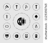 hardware icon. collection of 13 ... | Shutterstock .eps vector #1125350765