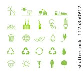 ecology icons set  vector... | Shutterstock .eps vector #1125350912