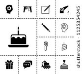 pictograph icon. collection of... | Shutterstock .eps vector #1125354245