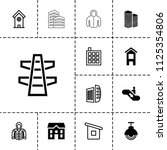 urban icon. collection of 13... | Shutterstock .eps vector #1125354806