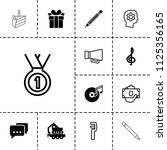 pictograph icon. collection of... | Shutterstock .eps vector #1125356165
