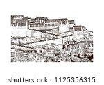 the potala palace in lhasa ... | Shutterstock .eps vector #1125356315