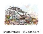 the potala palace in lhasa ... | Shutterstock .eps vector #1125356375