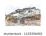 the potala palace in lhasa ... | Shutterstock .eps vector #1125356402