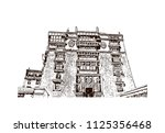 the potala palace in lhasa ... | Shutterstock .eps vector #1125356468