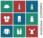 apparel icon. collection of 9... | Shutterstock .eps vector #1125356876